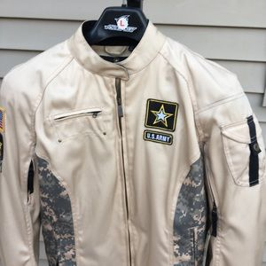 Jackets & Blazers - Ladies USA Army Motorcycle Jacket Brand New